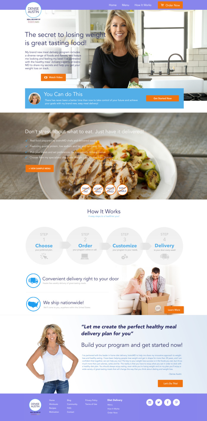 Denise Austin Meal Delivery by bistroMD